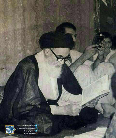 امام خمینی، نجف اشرف، حرم مطهر امیرالمؤمنین صلوات الله علیه