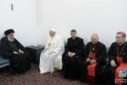 تصاویر دیدار پاپ فرانسیس با حضرت آیت الله سیستانی